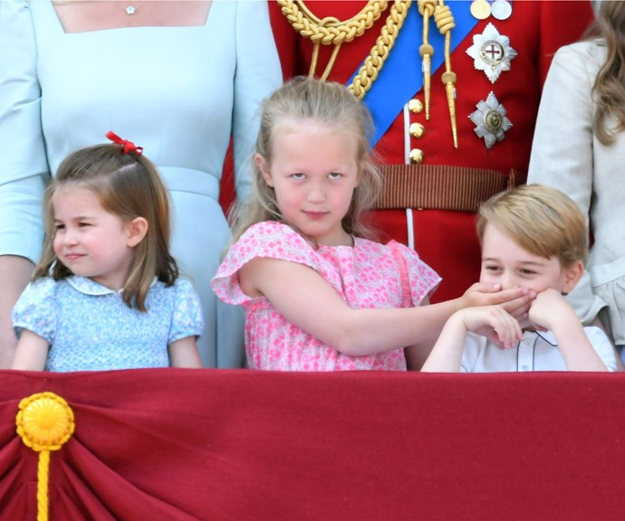 Prince George being shushed by his older cousin is classic cousin behaviour