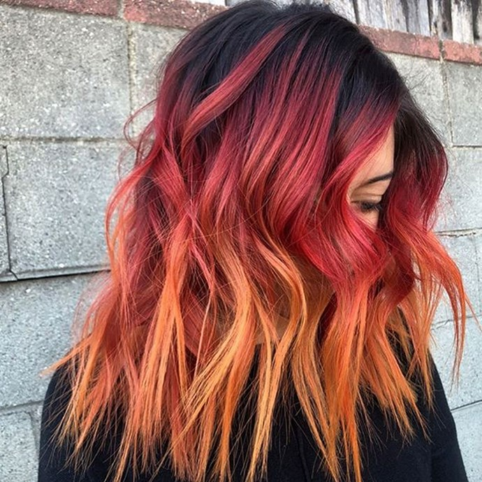 "**Hot Cheeto Hair** <br><br> If your two greatest loves in life are spicy snacks and a bold hair colour, then look no further. LA-based hairstylist, [Helena Palacios](https://www.instagram.com/_heyhelena/?utm_source=ig_embed|target=""_blank""