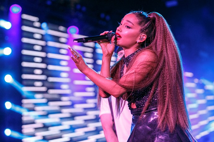 Getting right on board with '90s nostalgia vibes, Ariana loves a good crimp