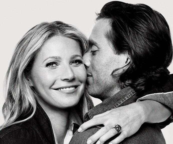 Gwyneth Paltrow and Brad Falchuk <br><br> Gwyneth Paltrow announced her engagament to director and producer Brad Falchuk.