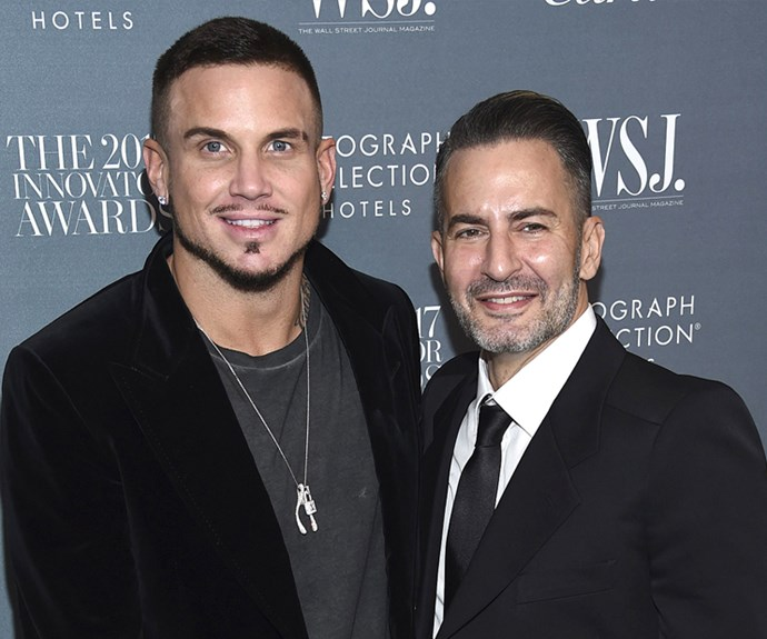 """Marc Jacobs and Charly """"Char"""" Defrancesco <br><br> Marc Jacobs proposed to longtime partner Char Defranesco by gettting down on one knee after a flash mob performance to Prince's hit song 'Kiss'."""