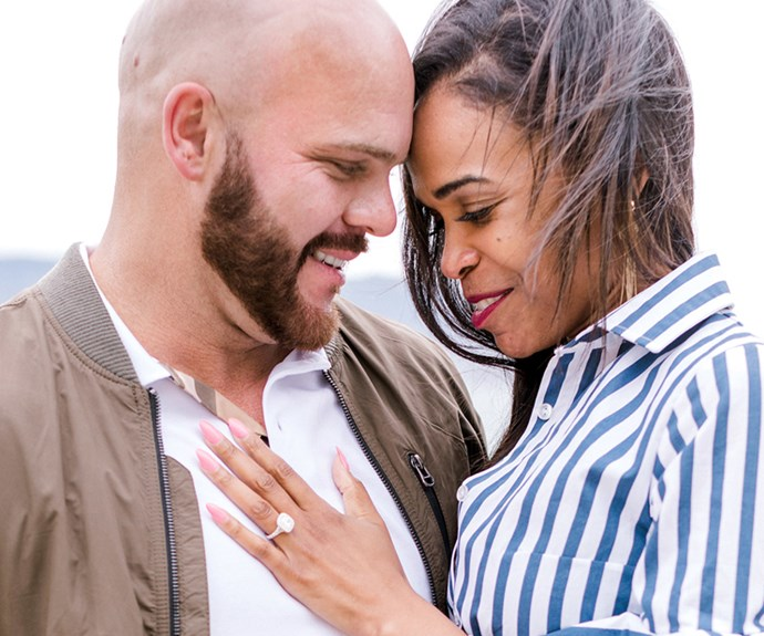 Michelle Williams and Chad Johnson <br><br> Michelle Williams and pastor Chad Johnson announced their engagement on 21 March in Pebble Beach California, showcasing a 5 carat rock from L.A jeweler Denis Maherefteh.