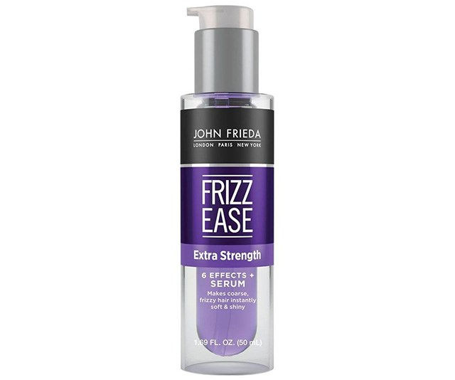 """**John Frieda Frizz Ease Extra Strength 6 Effects + Serum, $16.99 at [Priceline](https://www.priceline.com.au/john-frieda-frizz-ease-extra-strength-6-effects-serum-50-ml