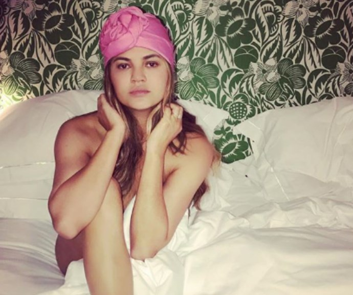 Chrissy Teigen just shared a photo of her DIY vagina steaming session