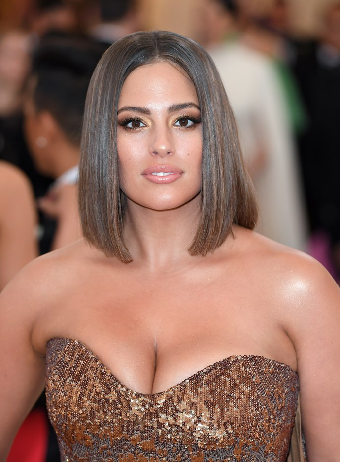 Ashley Graham's sleek cut she got right before stepping out onto the Met Gala red carpet.