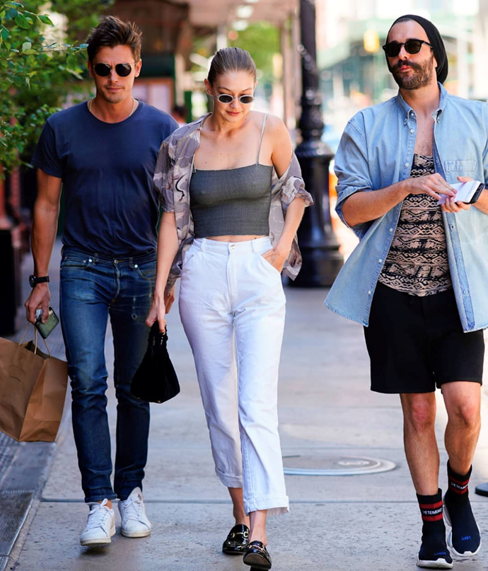 When Gigi, Antoni and Jonathan went for a stroll in NYC.   Image: Instagram
