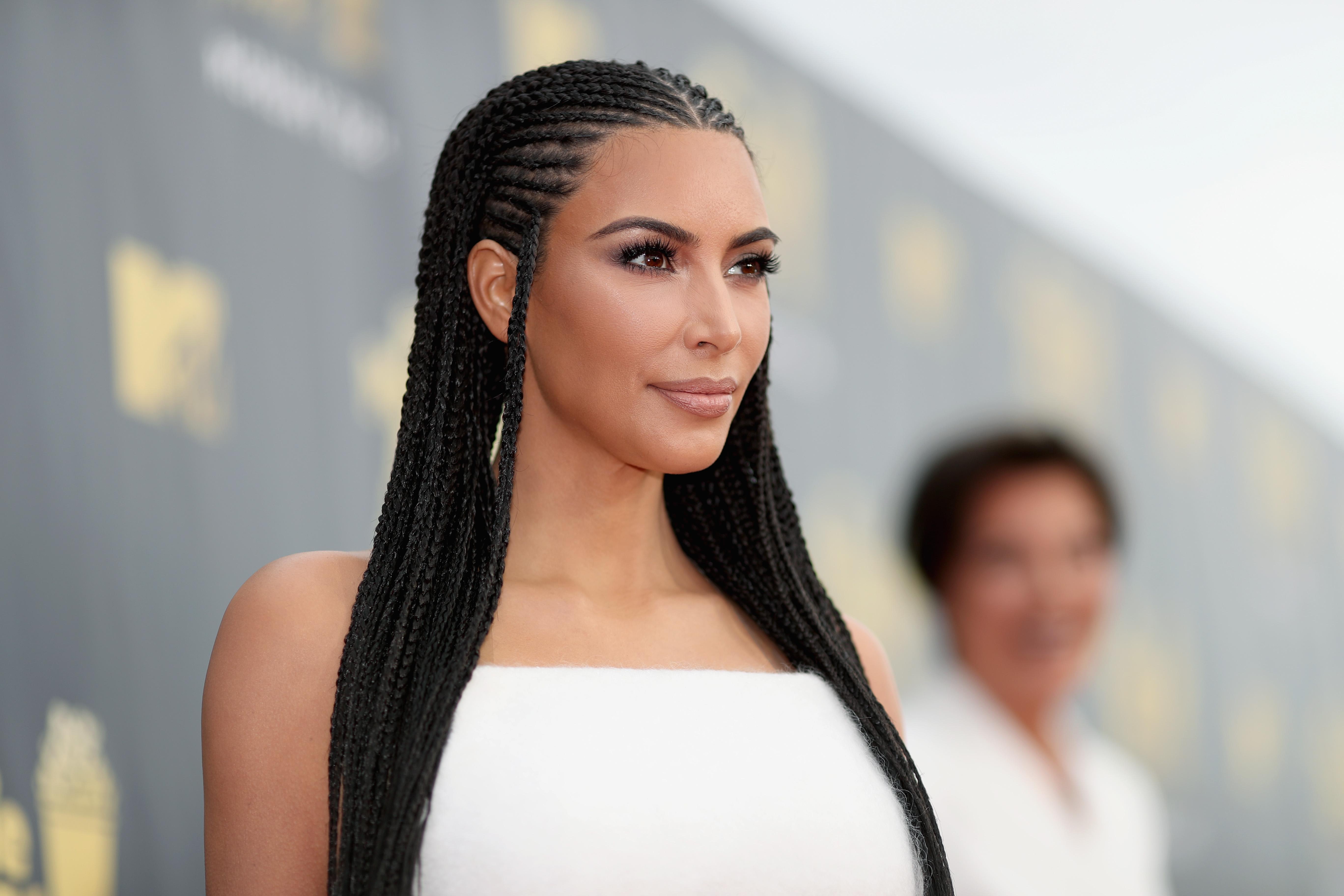 Kim Kardashian Explains Why She Thinks It's Okay For Her To Have Fulani Braids.
