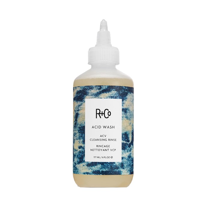 "R+Co Acid Wash Acv Rinse, $48 at [Adore Beauty](https://www.adorebeauty.com.au/r-and-co/r-co-acid-wash-acv-rinse.html|target=""_blank""