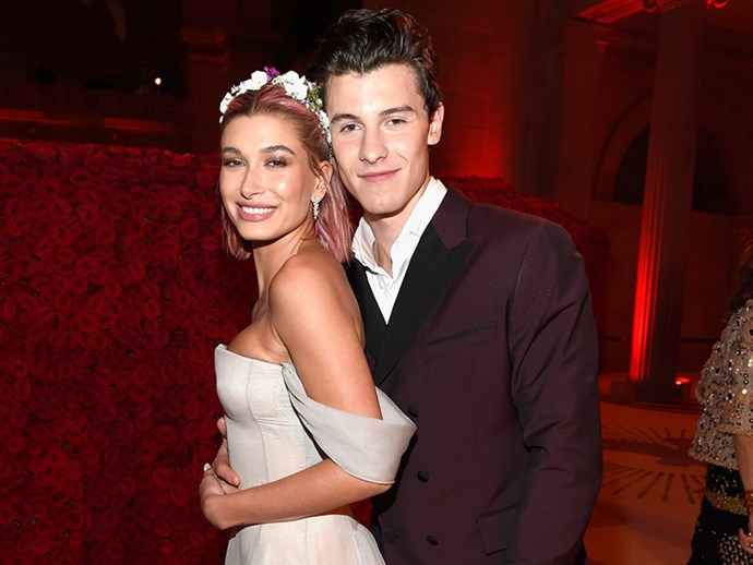 Hailey Baldwin and Shawn Mendes looked loved up at the Met Gala in May 2018.
