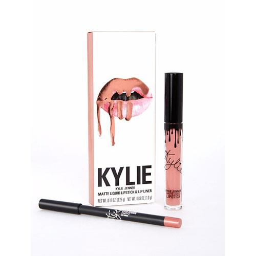 """**Kylie Cosmetics Lip Kit in Candy K, $40 at [Kyle Cosmetics](https://www.kyliecosmetics.com/products/candy-k