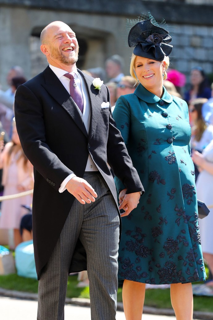 Zara, who is the daughter of Princess Anne and first cousin to Princes William and Harry, was heavily pregnant when she attended the May 19 wedding between Harry and Meghan Markle.