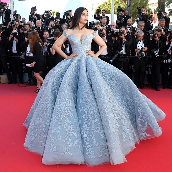 Aishwarya Rai at Cannes 2017.