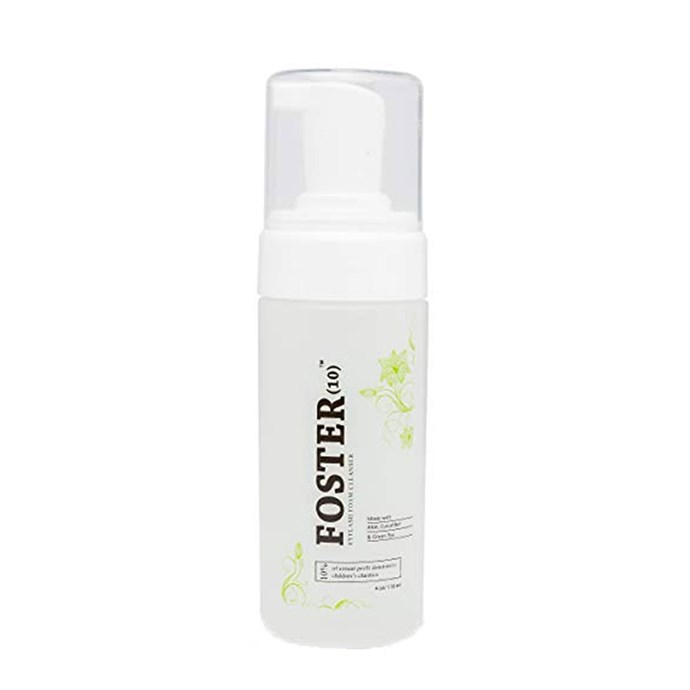 "Foster(10) Oil-Free Eyelash Extension Cleanser, $27 at [Amazon](https://www.amazon.com/Foster-10-Extension-Pomegranate-Chamomile/dp/B018OGHR5M/ref=sr_1_2_sspa?s=beauty&ie=UTF8&qid=1530167486&sr=1-2-spons&keywords=LASHGAME+Eyelash+Extension+Foaming+Cleanser&psc=1&smid=A9FWM02AE7Q3U|target=""_blank""
