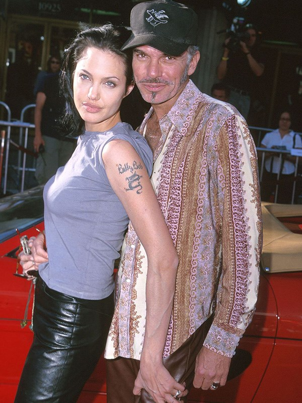 """**Angelina Jolie and Billy Bob Thornton's Quickie Marriage**  Angelina and Billy Bob have always marched to the beat of their own weird drums, but their brief relationship was shocking, even by their standards. They married in 2000 after only two months of dating, and started doing things like """"carrying each other's blood in vials around their necks."""" But the craziest part? Billy Bob's previous fiancé Laura Dern has said that she [didn't even know their relationship was over](https://www.usmagazine.com/entertainment/news/billy-bob-thornton-ex-laura-dern-have-awkward-run-in-at-2017-golden-globes-w459972/
