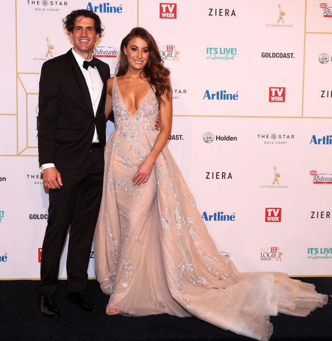 Andy Lee and Rebecca Harding (wearing jaw-dropping Paolo Sebastian) bringing you all the couple goals. All of them.