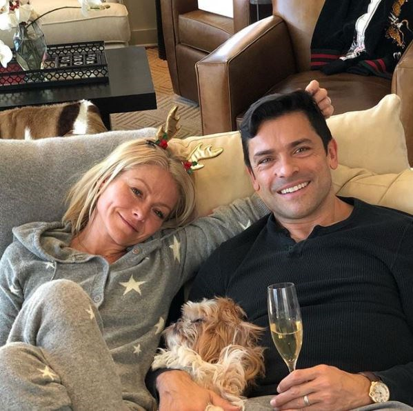 He plays the menacing Hiram Lodge on screen, but off-screen Mark Consuelos is a committed father of three kids with wife Kelly Ripa. Kelly is a huge name in her own right, hosting US daytime talk show *Live with Kelly and Ryan* alongside Ryan Seacrest. They've been happily married since 1996.