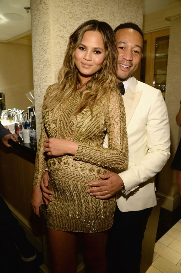 "**2014: Chrissy Teigen and John Legend** <br><br> This crazy-talented couple has been ""relationship goals"" for a while, but Legend's 2014 Grammy performance of ""*All of Me*"" sung directly to Teigen really took the cake and made this their year."