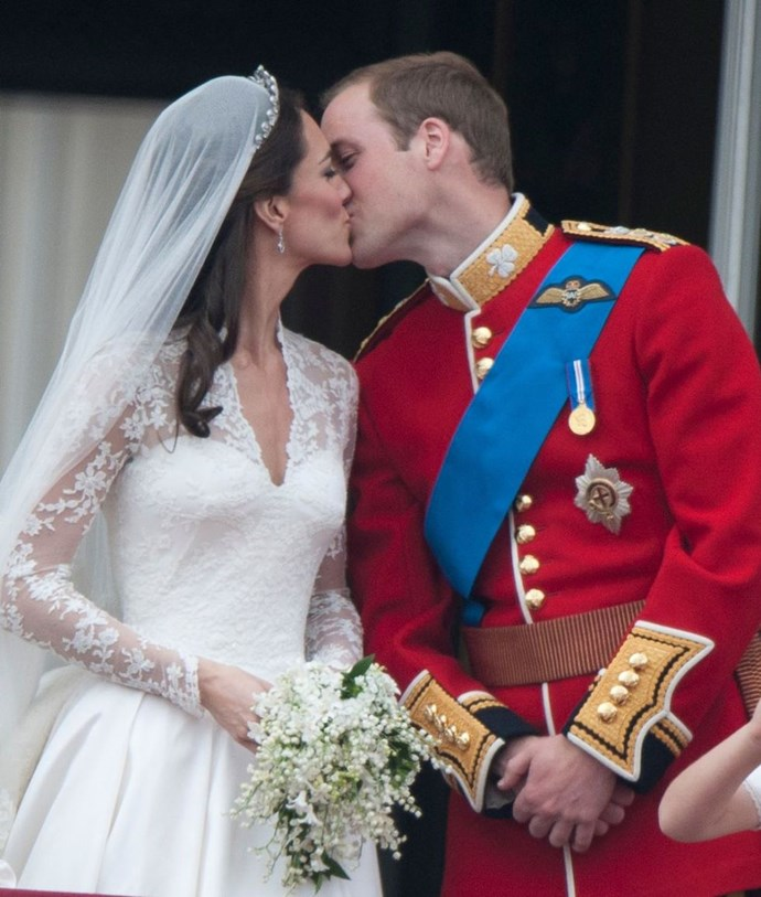 "**2011: Prince William and Kate Middleton** <br><br> Women (and men) everywhere swooned at [Will and Kate's fairytale wedding April 29](https://www.harpersbazaar.com.au/celebrity/kate-middleton-history-16529|target=""_blank""). The British press had until then been merciless to Kate, calling her ""Waity Katie,"" so the perfect, huge, wedding felt like a nice gift to anyone who's ever waited until the time was right."