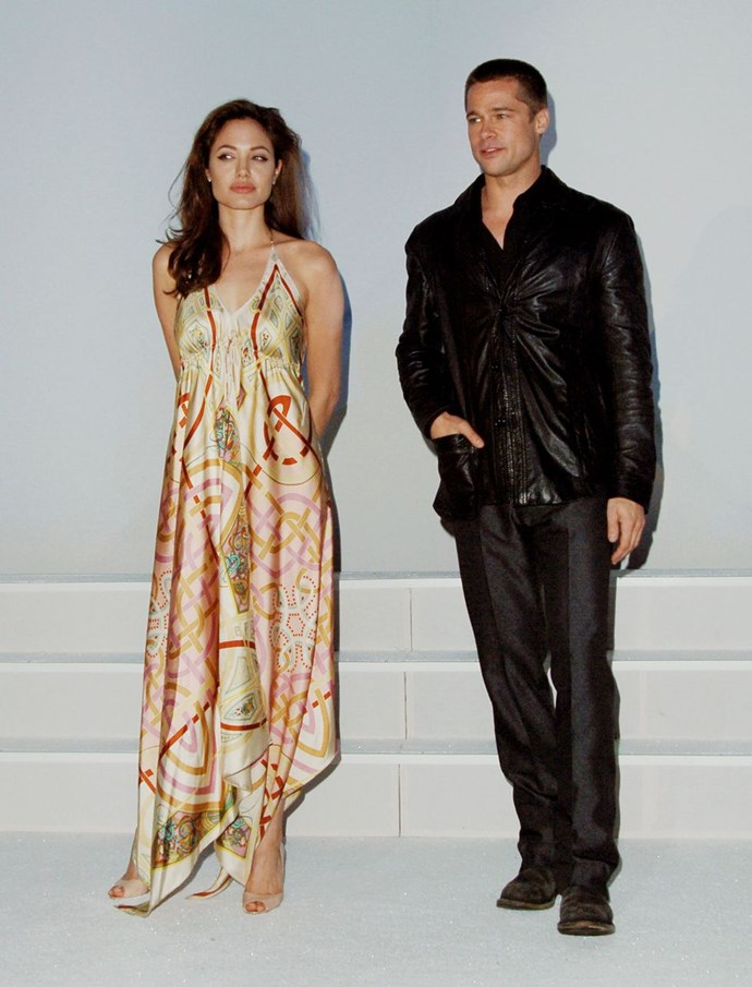 "**2005: Brad Pitt and Angelina Jolie** <br><br> *[W Magazine](https://urldefense.proofpoint.com/v2/url?u=http-3A__www.wmagazine.com_gallery_brad-2Dpitt-2Dangelina-2Djolie_all&d=CwMFaQ&c=B73tqXN8Ec0ocRmZHMCntw&r=_lVDcfhZeapwSNppss3VUg6RNC_xa8WGYq9yIby-ylo&m=HuY0LgaI-eG2rK-xBPQ1ldVsU40jQw5ngoA0lLO1J8E&s=TOEwzjJhn7SxBlQDe-qgcC9vsuQT-25UzBKnfNVHk8I&e=|target=""_blank""