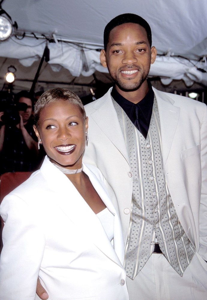 **1998: Will Smith and Jada Pinkett Smith** <br><br> It's fitting that they got married on New Year's Eve, because their marriage seems like the biggest party in the world.