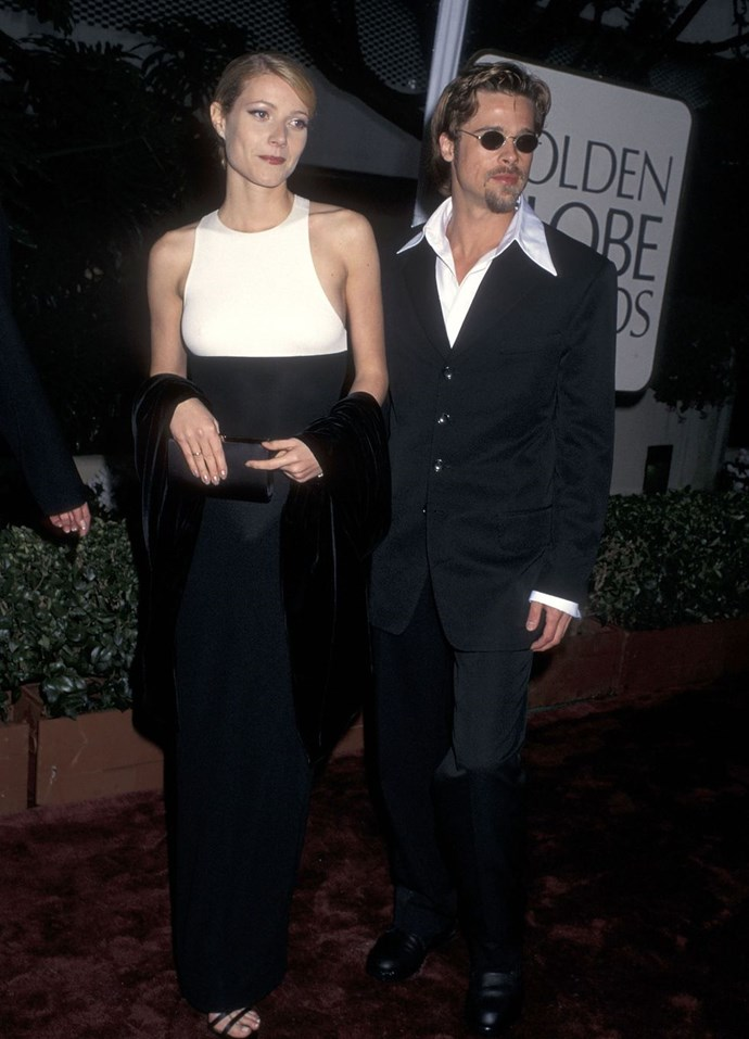 **1996: Gwyneth Paltrow and Brad Pitt** <br><br> After starring together in *Se7en*, the pair struck up a romance. They were young, crazy-hot, crazy-blonde, and crazy in love. Paltrow also starred in *Emma* this year.