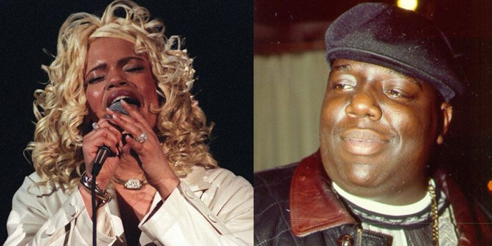 **1994: Faith Evans and Notorious B.I.G.** <br><br> They married as Biggie released his debut studio album *Ready to Die*. It was an instant classic.