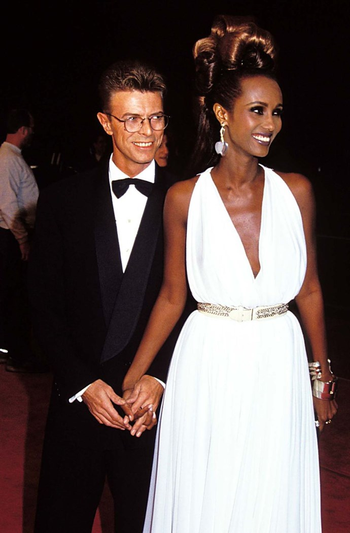 "**1992: Iman and David Bowie** <br><br> Bowie talked to *[Hello magazine](https://urldefense.proofpoint.com/v2/url?u=http-3A__us.hellomagazine.com_celebrities_2016011129165_david-2Dbowie-2Dtribute-2Dhello-2Dexclusive_&d=CwMFaQ&c=B73tqXN8Ec0ocRmZHMCntw&r=_lVDcfhZeapwSNppss3VUg6RNC_xa8WGYq9yIby-ylo&m=HuY0LgaI-eG2rK-xBPQ1ldVsU40jQw5ngoA0lLO1J8E&s=8QukerTUQqK56088p2LlSqJ7jEcHUNSzRtTlIXbj8ZQ&e=|target=""_blank""