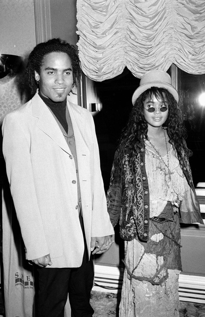 **1988: Lenny Kravitz and Lisa Bonet** <br><br> Bonet was known for *The Cosby Show* and *A Different World* and Kravitz was still waiting to make a name for himself when the two eloped in Las Vegas in 1987; in 1988, their daughter Zoë was born. The crazy hot pair still remain very friendly to this day, even though they are not together anymore.