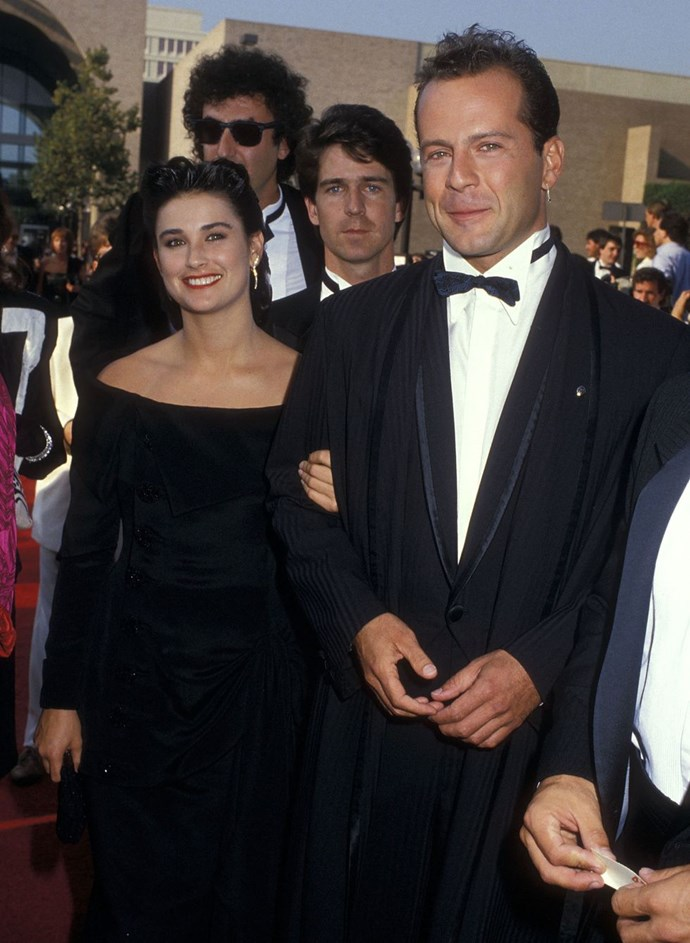 **1987: Demi Moore and Bruce Willis** <br><br> Moore and Willis married in Vegas in 1987 and reigned as a Hollywood power couple until their 1998 split and the whole Ashton Kutcher thing.