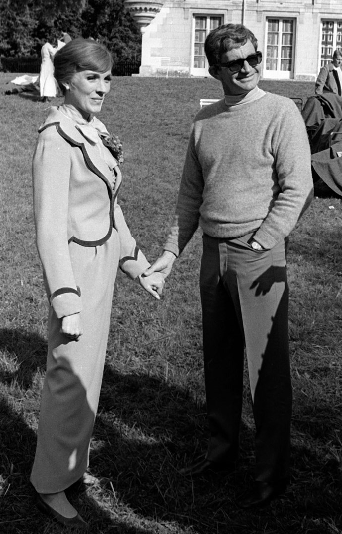 **1968: Julie Andrews and Blake Edwards** <br><br> One of Hollywood's most endearing couples, Andrews and Edwards filmed *Darling Lili*, where she was the star and he was the director, in 1968. (He was famed for directing *Breakfast at Tiffany's* and she'd already hit big with *The Sound of Music*.) They wed the following year.