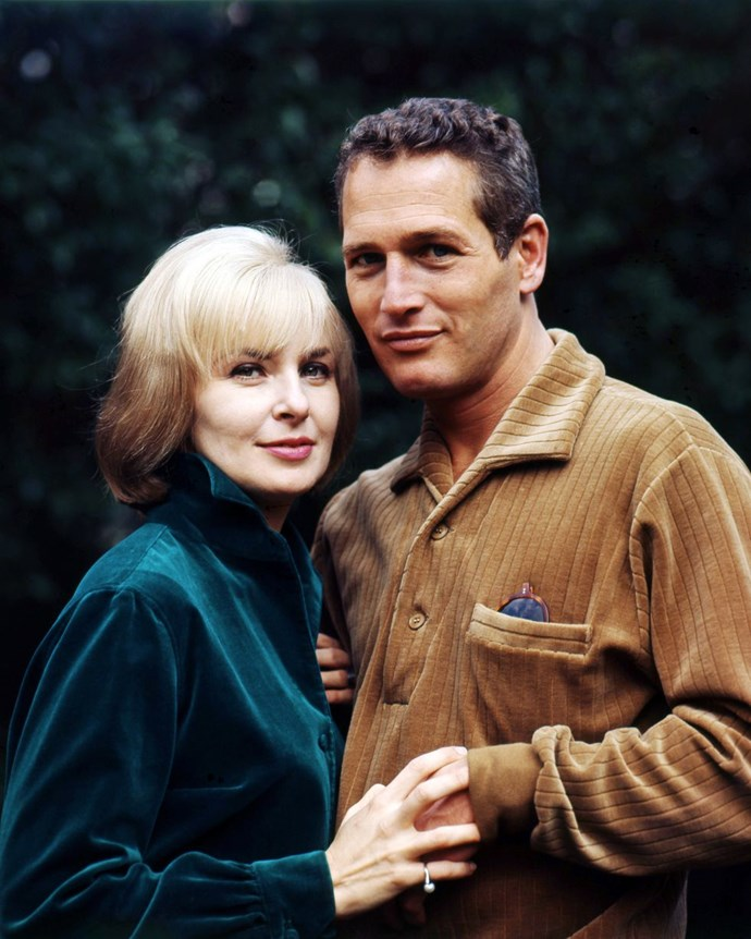 "**1967: Paul Newman and Joanne Woodward** <br><br> Woodward and Newman's 50-year relationship (until his death) is what we all strive for: On being faithful to one woman for so long, he famously said, ""I have steak at home, so why should I go out for a hamburger?"" It's also important to note that Woodward won her Oscar first, in 1958, for her role in *The Three Faces of Eve*."