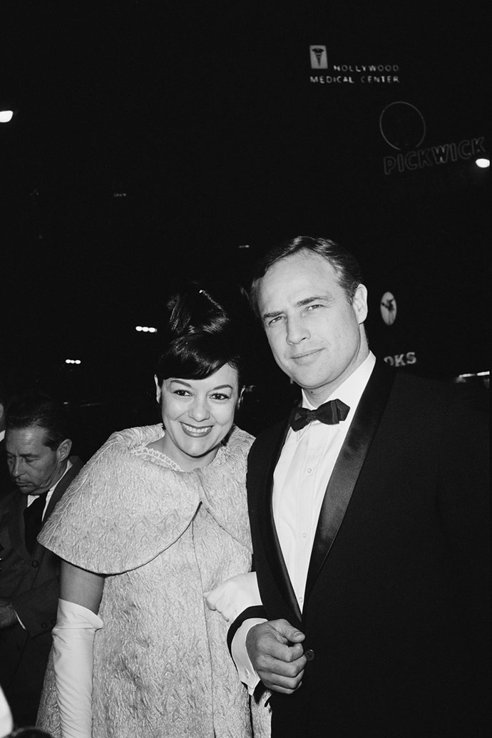 "**1960: Marlon Brando and Movita Castaneda** <br><br> This extremely good-looking couple is why the flame emoji was invented. Mexican-American actress Maria ""Movita"" Castaneda met Marlon Brando in the late 1950s and the pair wed in 1960 and went on to have two children. The flame was extinguished shortly after, however, when in 1962, while filming a remake of a 1935 movie that Castaneda starred in, Brando met and fell in love with his co-star, Tarita Teriipaia. Cold move."