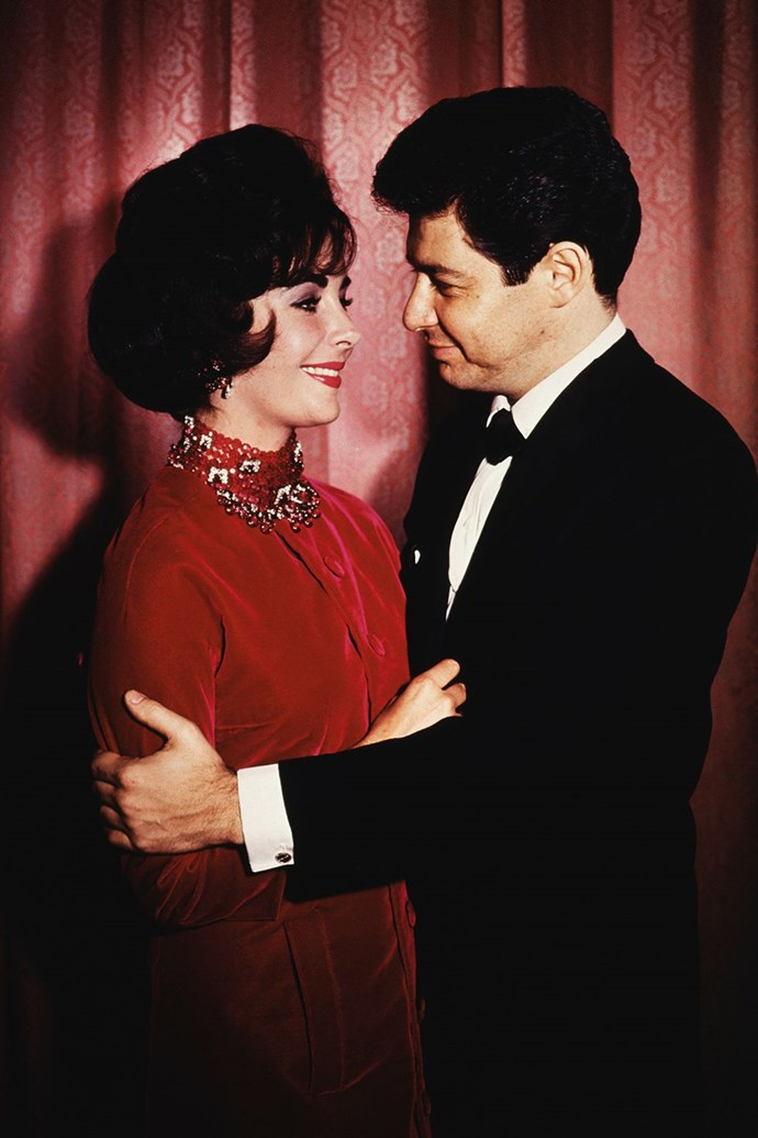 **1959: Liz Taylor and Eddie Fisher** <br><br> Yep, him again. While still married to Debbie Reynolds, Fisher had an affair with Taylor, who was mourning the death of her third husband, Mike Todd. The couple married in 1959 after Fisher divorced Reynolds, but split in 1964 because...well, just keep going for a few more slides.