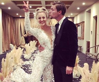Kaley Cuoco wore the most epic jumpsuit at her wedding