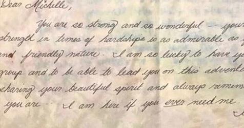 The short note Meghan sent her friend.
