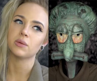 This beauty blogger transformed herself into Squidward and we can't stop laughing