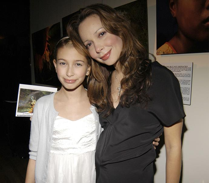 Hailey and mum Kennya in 2008.