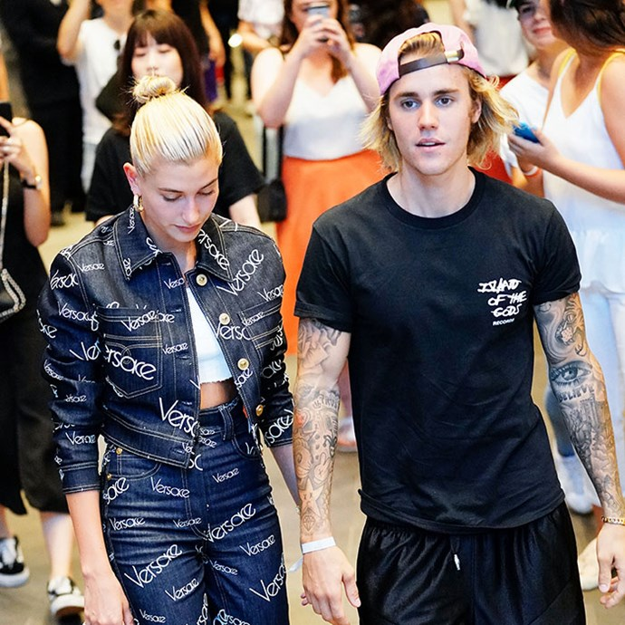 Justin and Hailey pictured shortly before their engagement.