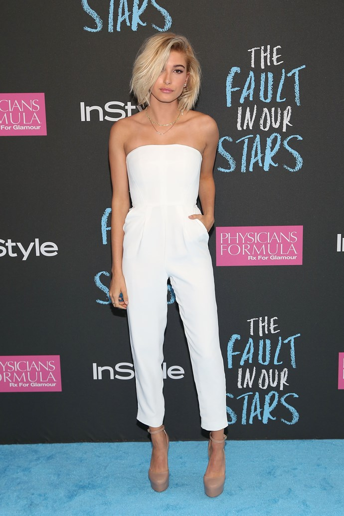 We reckon Hailey wears the pants in this relationship, so a jumpsuit might be a fitting option.