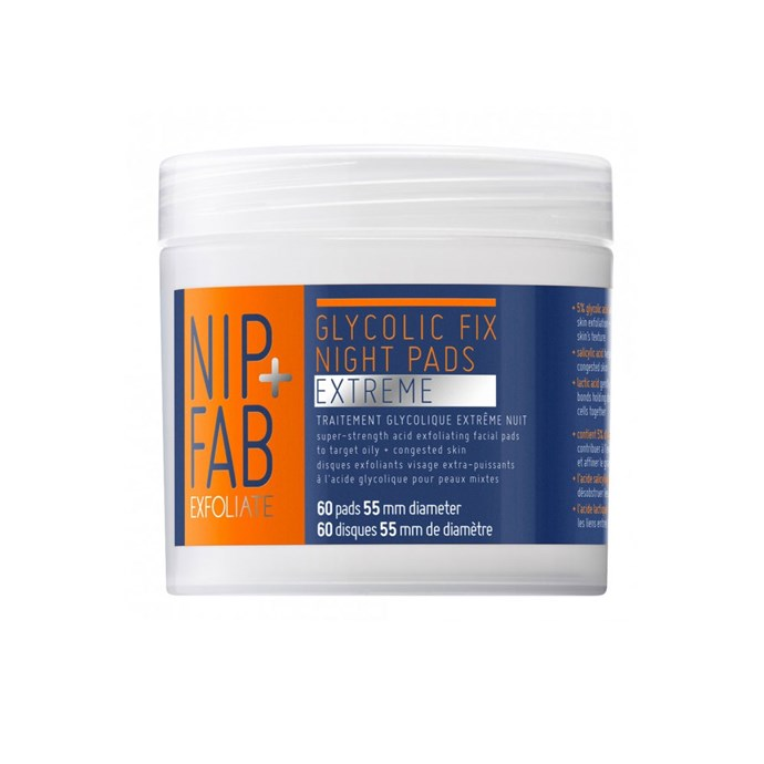 """**NIP+FAB Glycolic Fix Night Pads Extreme, $35 at [Priceline](https://www.priceline.com.au/nip-fab-glycolic-fix-night-pads-extreme-60-pack