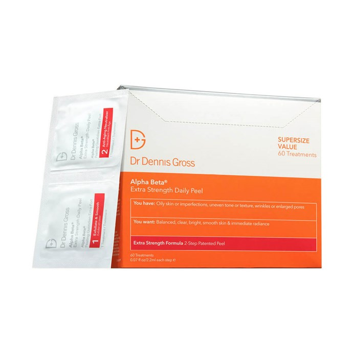 """**Dr. Dennis Gross Alpha Beta Extra Strength Daily Peel, $129 at [MECCA](https://www.mecca.com.au/dr-dennis-gross/alpha-beta-extra-strength-daily-peel/V-017009.html