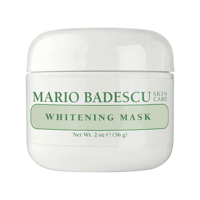 "**Mario Badescu Whitening Mask, $35 at [MECCA](https://www.mecca.com.au/mario-badescu/whitening-mask/I-004356.html|target=""_blank""