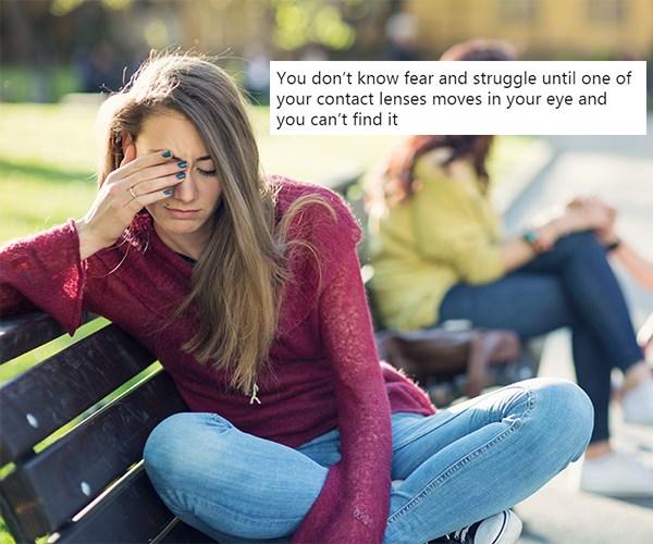 contact lens struggles