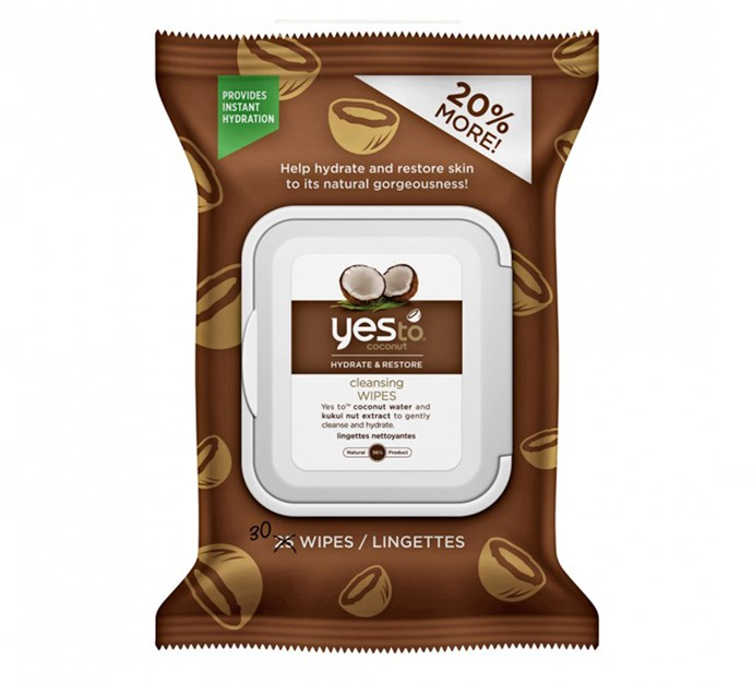 "**Yes To Coconut Cleansing Wipes, $7.99 at [Priceline](https://www.priceline.com.au/yes-to-coconut-hydrate-restore-cleansing-wipes-30-wipes|target=""_blank""