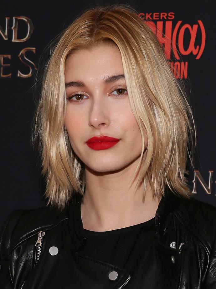 After remaining out of the spotlight for a couple of years, Hails came back strong in 2014 with an edgy new lob, full brows and perfectly lined red lips.