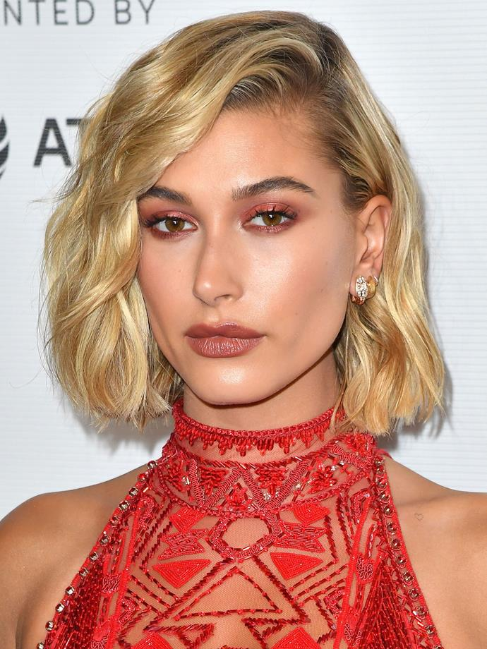 In her shortest cut yet, Hailey rocked a tousled bob like no other.
