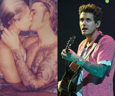 John Mayer has a V important question about Justin Bieber & Hailey Baldwin's hot tub makeout session