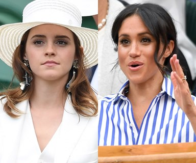 Emma Watson and Meghan Markle just had an epic twinning moment at Wimbledon