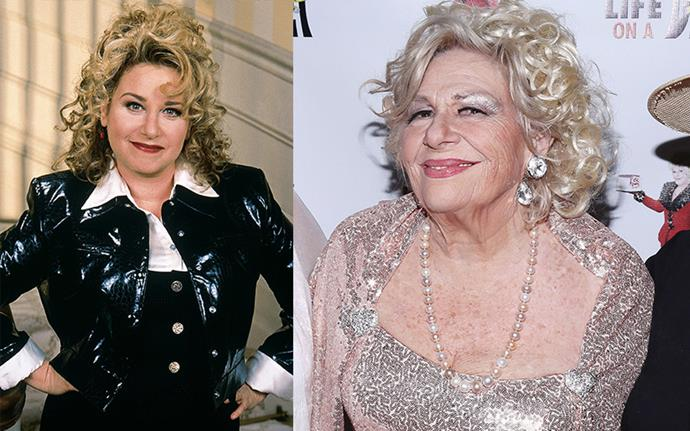 **Renee Taylor Aka Sylvia Fine**  The woman behind Fran's hilarious mum Sylvia is now in her 80s and absolute killing it. You may not know she's actually an Oscar nominee, having been recognised alongside her now ex-husband, actor Joe Bologna, for the film adaptation of *Lovers and Other Strangers*, a play they wrote together. Taylor also scored a role as Ted Mosby's neighbour on *How I Met Your Mother* and made regular appearances on Fran's series *Happily Divorced*. Get it, Sylv.
