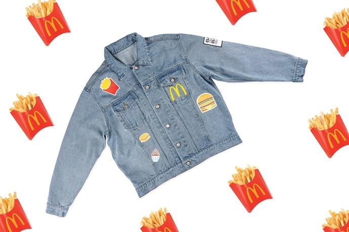 McDonald's Global McDelivery Day denim jacket